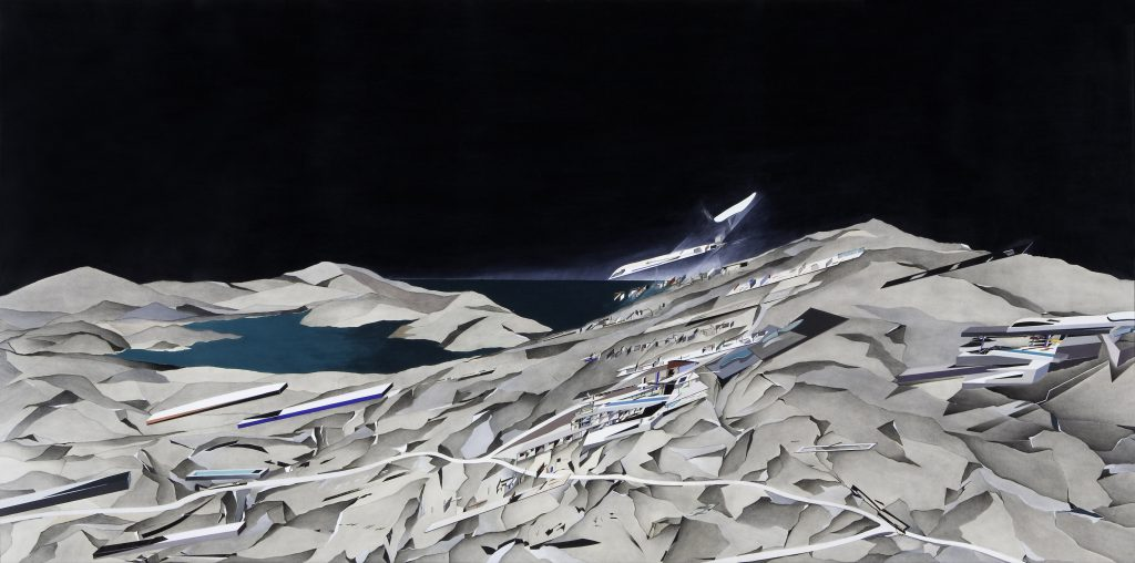 1 Zaha Hadid, painting from The Peak series